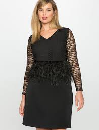 studio feather and lace peplum dress women u0027s plus size dresses