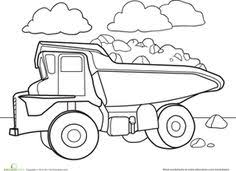 coloring page construction 04 construction pinterest