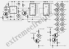 mode lights sequencer circuit diagram