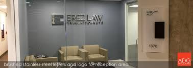 Reception Desk Miami by Stainless Steel Lobby Signs Reception Signs Corporate Office