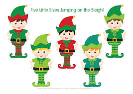 christmas elves five elves christmas song free printable puppets picklebums