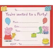 peppa pig birthday invitations wblqual com