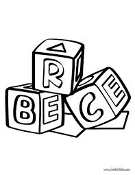 building block coloring page daycare coloring pages