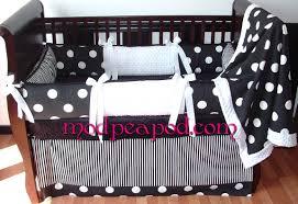 Black And White Crib Bedding Set Black And White Classic Crib Bedding Set With Polka Dots 279 00