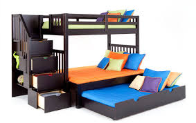 Scoop Bunk Bed Keystone Stairway Bunk Bed With Perfection Innerspring