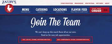 zaxby u0027s job application apply online