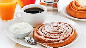 breakfast bread cream and coffee wallpaper