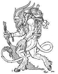 krampus coloring page printables pinterest occult