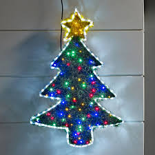 tinsel christmas tree led light silhouette lights4fun co uk