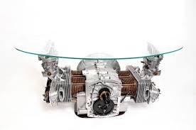 porsche 356 engine block coffee table