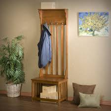 Entryway Hall Tree by Oak Entry Bench Hall Tree Wood Coat Rack Shoe Storage Hats Stand