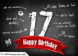komplimente geburtstagskarte zum 17 geburtstag happy birthday - Sprüche 17 Geburtstag