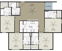four bedroom floor plans floor plan 4 bedroom flat house plans flat roof house plans