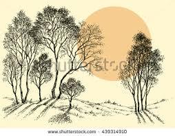 landscape sketch stock images royalty free images u0026 vectors
