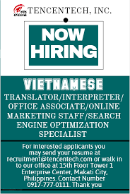 Send Your Resume At Vietnamese Online Marketing Staff In Makati Ncr Philippines