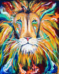 iron lion zion abstract lion colorful rasta jamaica