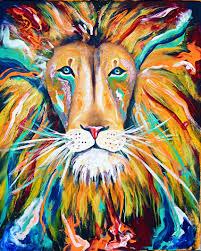 Bob Marley Home Decor Iron Lion Zion Abstract Lion Colorful Rasta Jamaica