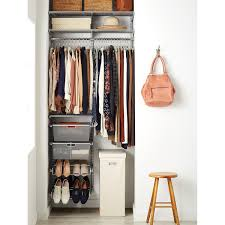 Small Space Platinum Elfa Small Space Closet The Container Store