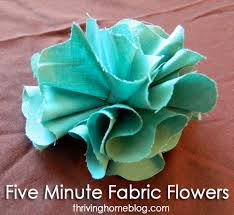 fabric flower tutorial crafts fabric flower