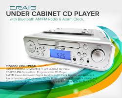 under cabinet cd player with bluetooth am fm radio u0026 alarm clock