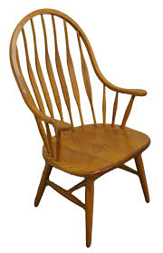 High Back Windsor Armchair High End Used Furniture S Bent Brothers Oak Arrow Bow Back