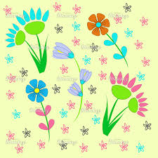 fresh bright spring flowers pattern fabric print fabric woven