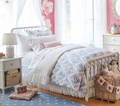 organic sadie ruffle quilt cover pottery barn kids