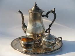 Coffee Set vintage wm rogers silver plate tea or coffee set w pot tray etc
