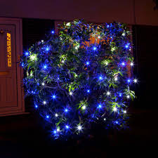 blue white christmas lights 1m x 1m net light connectable 64 leds