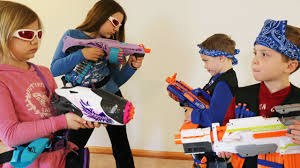 nerf war boys vs girls youtube