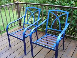 Paint Patio Furniture Metal - how to paint metal patio chair u2013 outdoor decorations