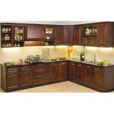 wooden kitchen design l shape brown wooden modular kitchen