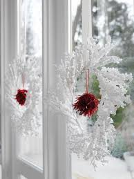 Kitchen Window Christmas Decorations by Breathtaking Red And White Kitchen Christmas Themed Completed With