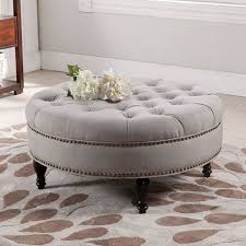 Circle Ottomans Upholstered Coffee Table Best Ideas About