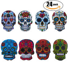 amazon com netany 24 pack sugar skull magnets with refrigerator
