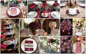 luxury wedding in color marsala