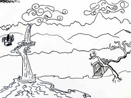 landscape drawing for kids draw8 info