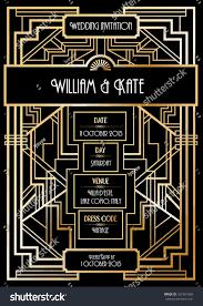 deco wedding invitations deco wedding invitation card template stock vector 167381069