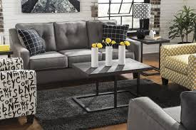 Charcoal Tufted Sofa by Contemporary Sofa With Track Arms U0026 Tufted Back By Benchcraft