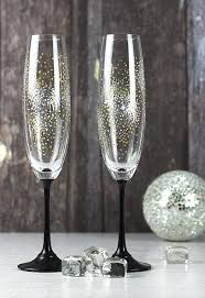 new years chagne glasses new year s fireworks chagne flutes project by decoart