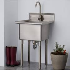 stand alone kitchen sink unit 21 5 l x 24 w free standing laundry sink with faucet