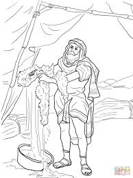 gideon and the fleece coloring page free printable coloring pages