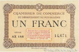 chambre de commerce puy de dome 1 franc regionalism and miscellaneous puy de dôme 1918 jp