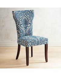 damask chair find the best fall savings on carmilla blue damask dining chair