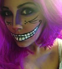 Cat Face Makeup For Halloween Cheshire Cat Face Makeup Alice Wonderland On Pinterest Face