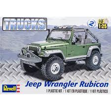 jeep model kit plastic model kit jeep wrangler rubicon 1 25 walmart com