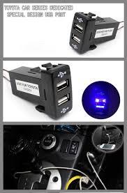 Usb Port For Car Dash Car 12v 5v 3 3a Dual Usb Ports Dashboard Mount Charger For Toyota