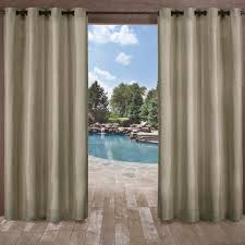 2 Tone Curtains Biscayne Indoor Outdoor 2 Tone Textured Grommet Top Window