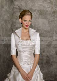 wedding dress with bolero custom made half sleeve satin wedding jacktet bridal bolero 107001