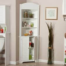 furniture antique white corner shelf unit with queen anne legs